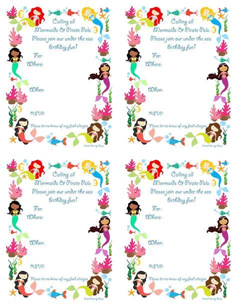 free printable birthday invitations little mermaid free printable mermaid birthday party invitations