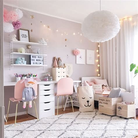 girl bedroom decor ideas a scandinavian style shared girls room by pink walls