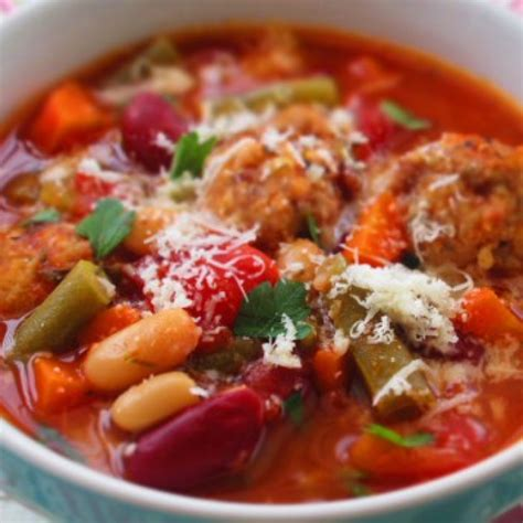 italian meatball and vegetable soup recipe