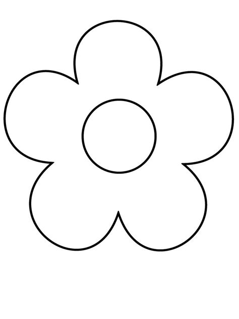 coloring pages of simple flowers 25 best ideas about flower coloring pages on