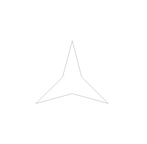 Drawing 9 Pointed by Plane Geometry Vector Stencils Library