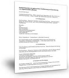 Standard Kaufvertrag Auto by Kfz Kaufvertrag Gebraucht Muster Standardvertraege De