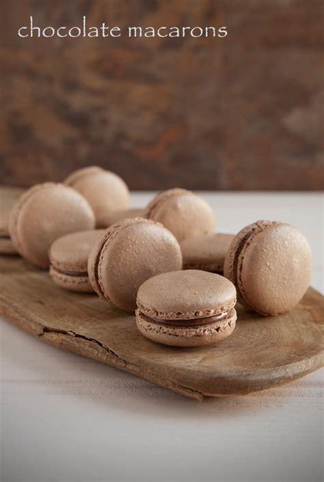 macarons recipe chocolate macarons recipe dishmaps
