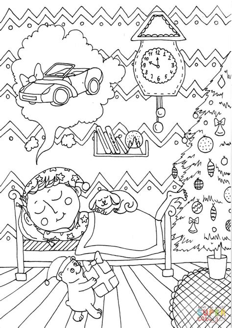december coloring pages boy in december coloring page free printable