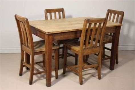 antique edwardian oak dining table chairs set 71945