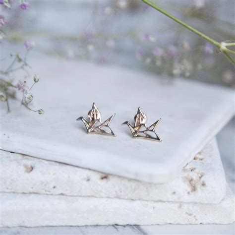 How To Make Origami Crane Earrings - origami crane earrings by junk jewels notonthehighstreet