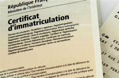 l acheminement d un certificat d immatriculation