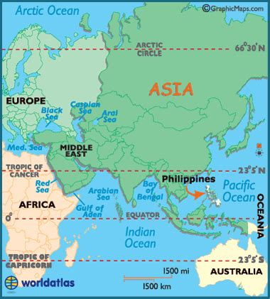 philippines map / geography of philippines / map of