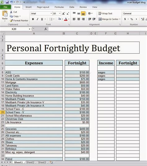 fortnightly budget template fortnightly budget template 28 images 28 fortnightly