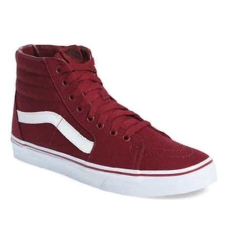 Sweater Vans The Wall sweater white stripe vans of the wall burgundy wheretoget