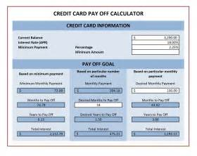 Payment Calculator Excel Template by Credit Card Payoff Calculator Excel Templates