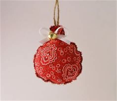 rustic red bandana stocking christmas ornament by lizzy