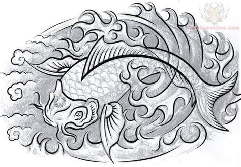 black and white koi fish tattoo black and white koi fish