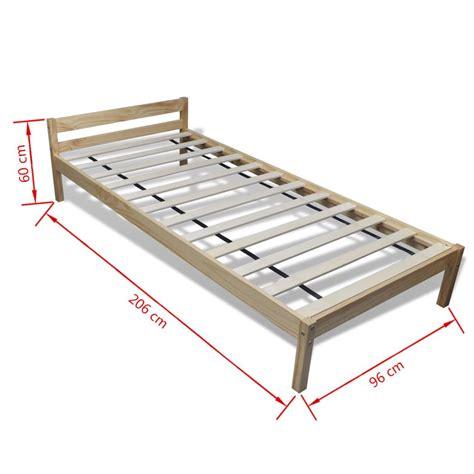 letto e materasso letto in legno di pino 200 x 90 cm con materasso di