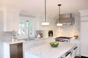 Carrara Marble Subway Tile Kitchen Backsplash Simplifying Remodeling Countertop Backsplash Making