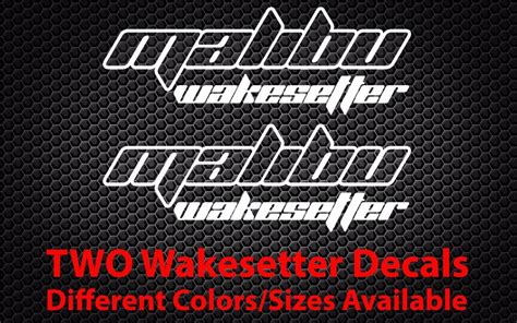 wake boat decals 2x malibu wakesetter sticker boat wakeboard jet ski car