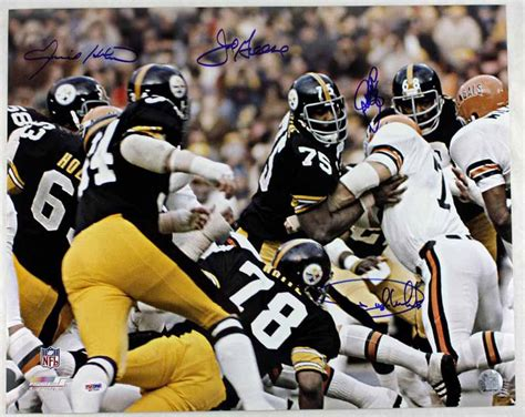 steele curtain lot detail steel curtain defense impressive signed 16x20