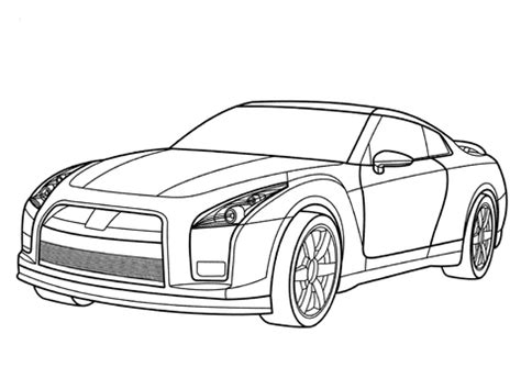 nissan gt r coloring page | free printable coloring pages