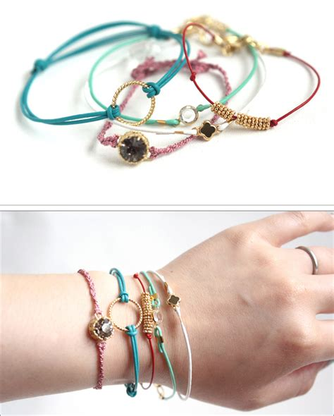Small Good Things » Craft Tutorial: Leather Cord Bracelets