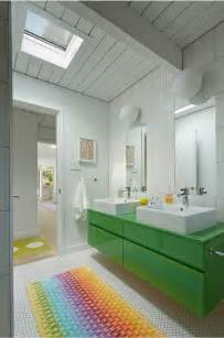meuble salle bain vert anis