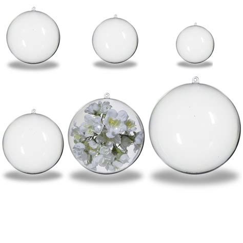 clear baubles clear acrylic baubles 5 pack 120mm autumn crafts from
