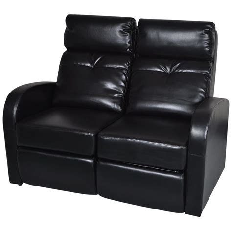 Artificial Leather Home Cinema Recliner Reclining Sofa 2 2 Seat Leather Reclining Sofa