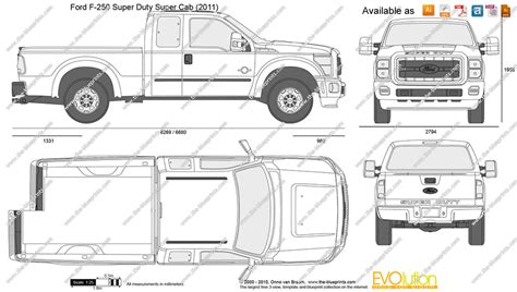 F Drawing Size by The Blueprints Vector Drawing Ford F 250