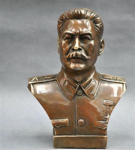 Handmade Statues - collection vintage handmade stalin bronze statue