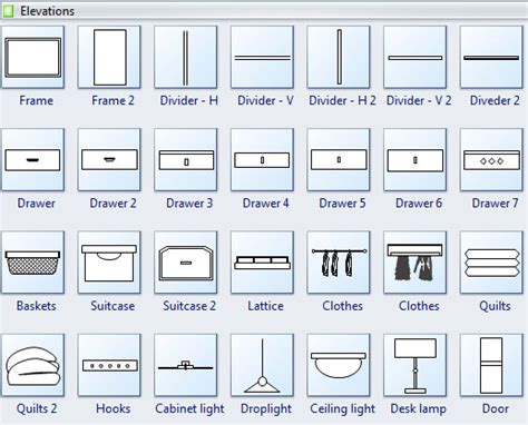 kitchen symbols for floor plans cabinet design software edraw