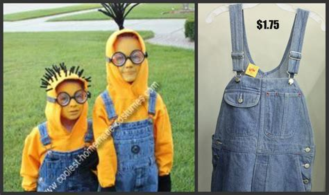 despicable 2 minions halloween costume thrift store style