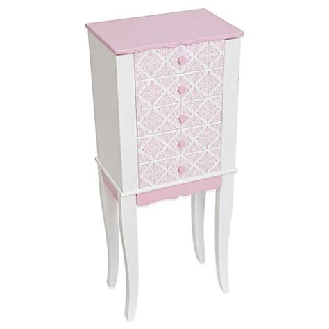 mele co jewelry armoire buy mele co selena girl s jewelry armoire from bed bath beyond