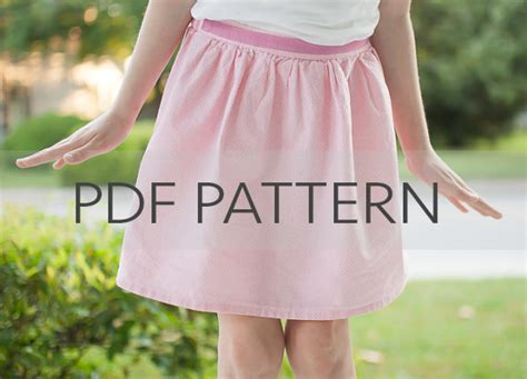 pattern making gathered skirt gathered skirt pdf sewing pattern girls easy pattern pdf