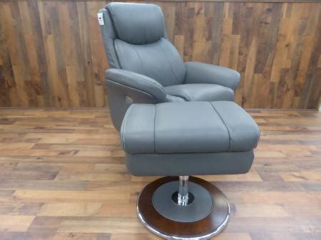 Lazy Boy Chair And Ottoman Lazy Boy Antonio Cobblestone Grey Power Recliner Chair Ottoman Furnimax Brands Outlet