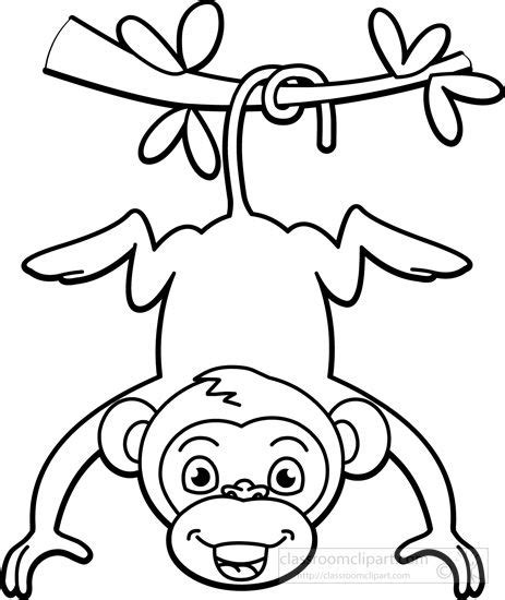 Outline Of A Monkey by 22 Best Monkey Outline With Tattoos Images On Black And White Clip And