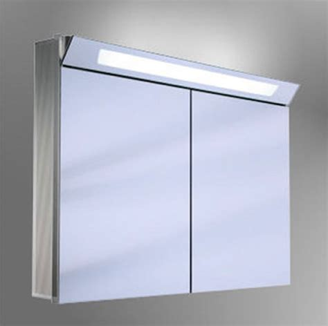 schneider capeline 2 door illuminated mirror cabinet uk