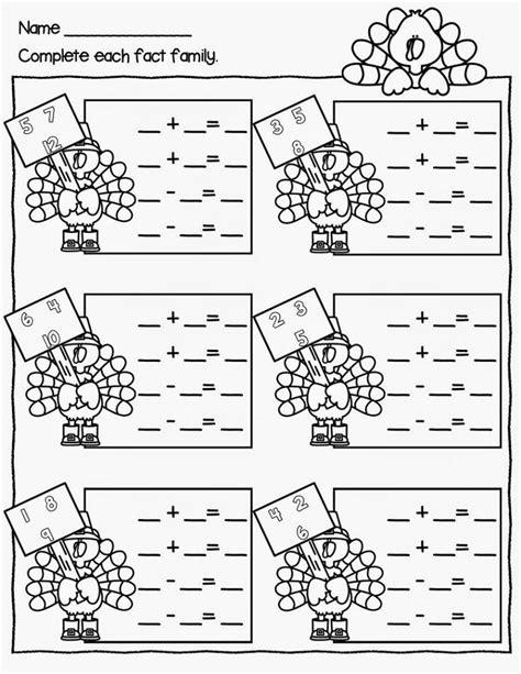 Fact Family Worksheets Kindergarten