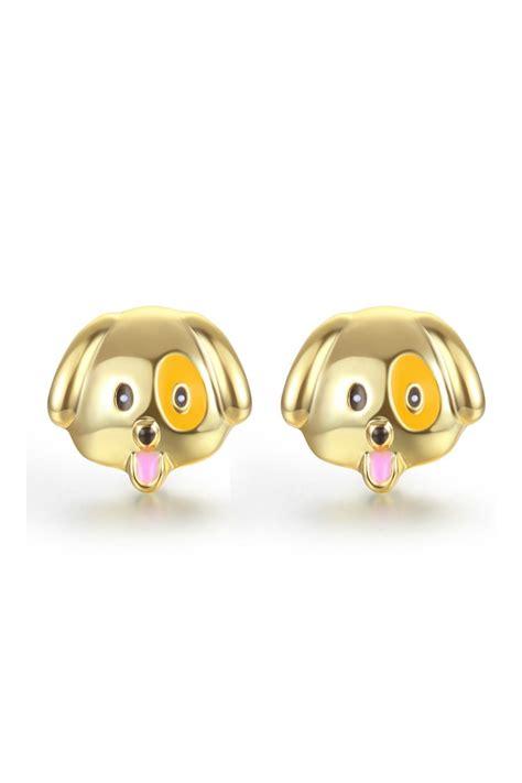 emoji earrings passiana puppy emoji earrings from manhattan by passiana
