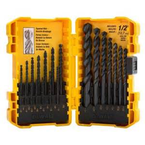 home depot drill set dewalt black oxide drill bit set 25