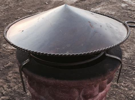 Fire Pit Accessories - chiminea spark arrester rain cap