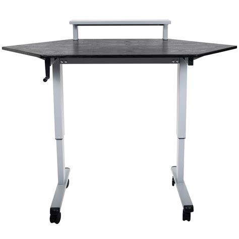 corner stand up desk luxor h wilson standup ccf60 b stand up corner desk 60 quot