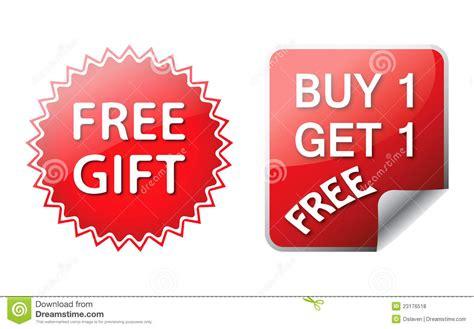 Stok Terbatas Buy 1 Get 1 Free Card Wallet Tas Ransel Wanita Tas free gift labels royalty free stock photos image 23176518