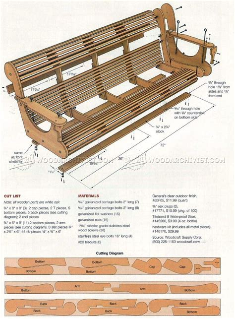 woodworking plans porch swing classic porch swing plans woodarchivist