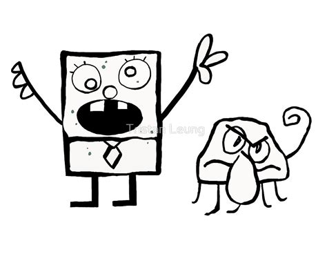 doodlebob me hoy minoy meaning quot doodlebob and squiddle quot by tristan leung redbubble