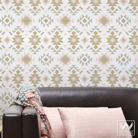 wallpaper removable tribal aztec print pattern removable wallpaper diy decor