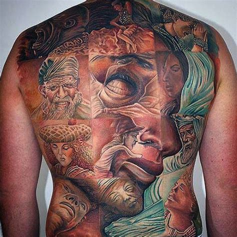 full back tattoos for men 65 mind bending 3d optical illusion tattoos tattoomagz