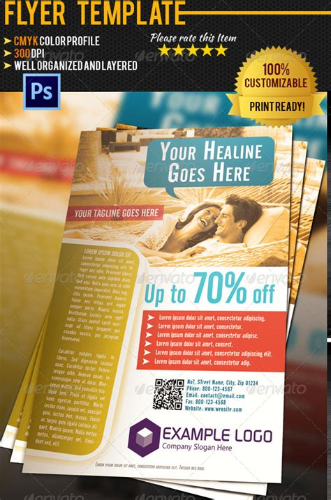 Hotel Flyer Template By Pmvch Graphicriver Hotel Flyer Template