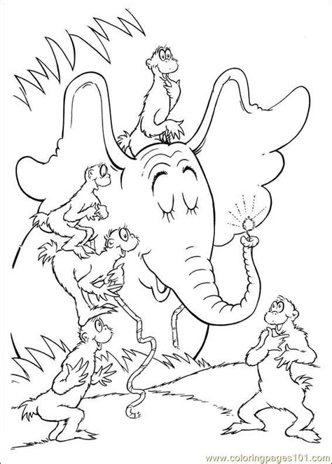 coloring pages horton the elephant coloring pages horton 64 cartoons gt horton free