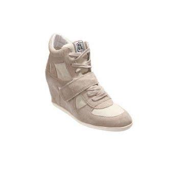 Sneaker Wedges Krem cult nappa wax sneakers beyaz sneakers ash