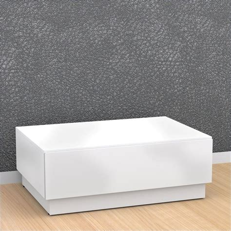 nexera blvd coffee table w storage in white