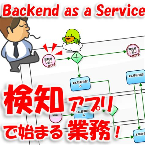 workflow as a service ワークフローサンプル 業務用スマホアプリの backend に saas workflow を使う